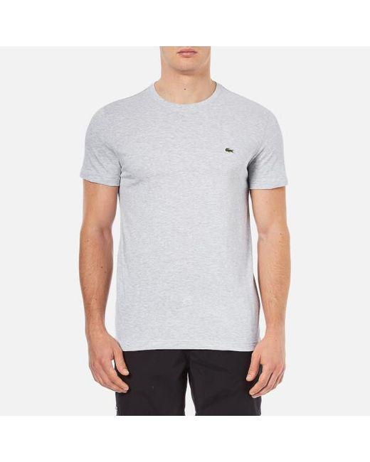 Lacoste - Gray Basic T-shirt for Men - Lyst