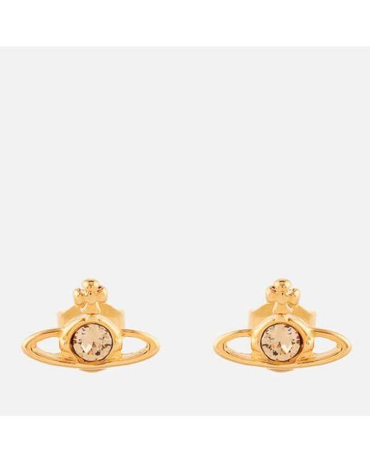 Vivienne Westwood | Metallic Jewellery Women's Mini Bas Relief Pierced Earrings | Lyst