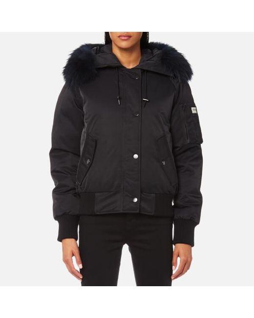 Kenzo Women's Technical Outerwear Bomber Jacket in Black | Lyst