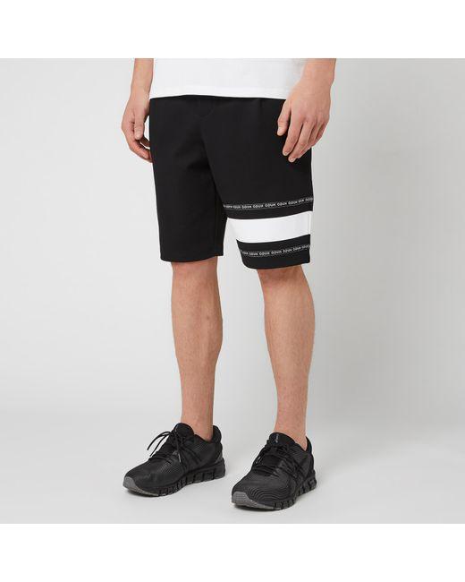 HUGO - Black Dorts Jersey Trousers for Men - Lyst