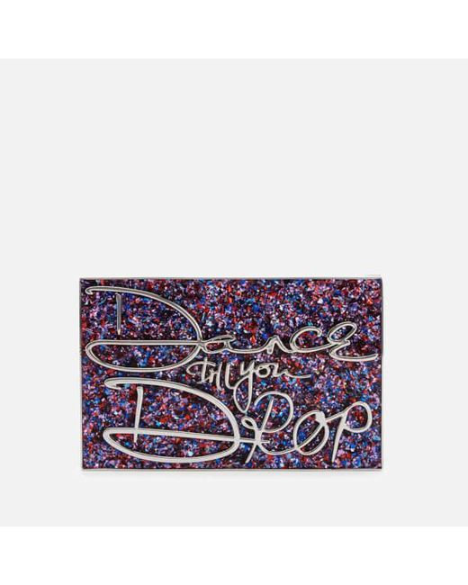 Lulu Guinness | Purple Olivia Dance Till You Drop Perspex Clutch Bag | Lyst