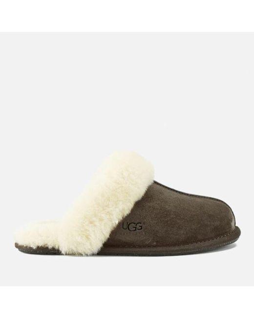 Ugg - Brown Women's Scuffette Ii Suede Slippers - Lyst