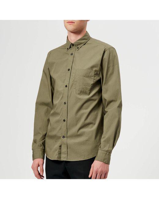 f403f037a0 Lyst - Acne Studios Isherwood Soft Pop Shirt in Green for Men