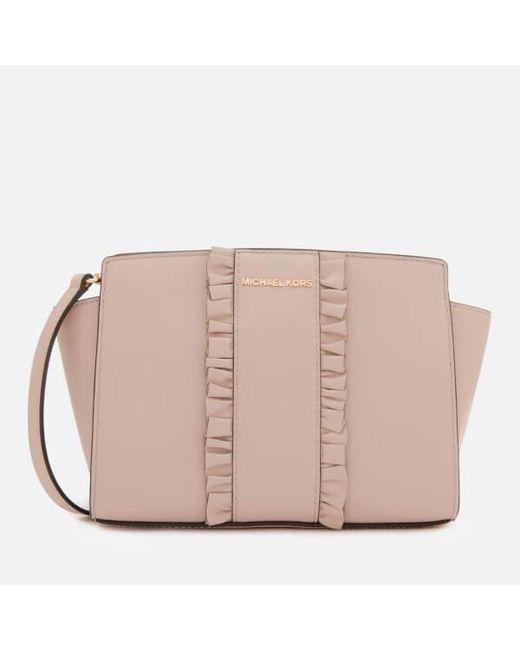MICHAEL Michael Kors - Pink Women's Selma Medium Messenger Bag - Lyst