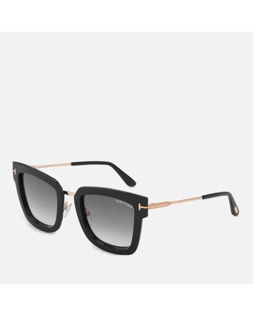 4e7d1166f80 ... Lyst Tom Ford - Black Women s Lara Square Frame Sunglasses ...