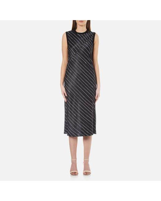 DKNY - Black Women's Sleeveless Slip Dress With Seaming Detail - Lyst