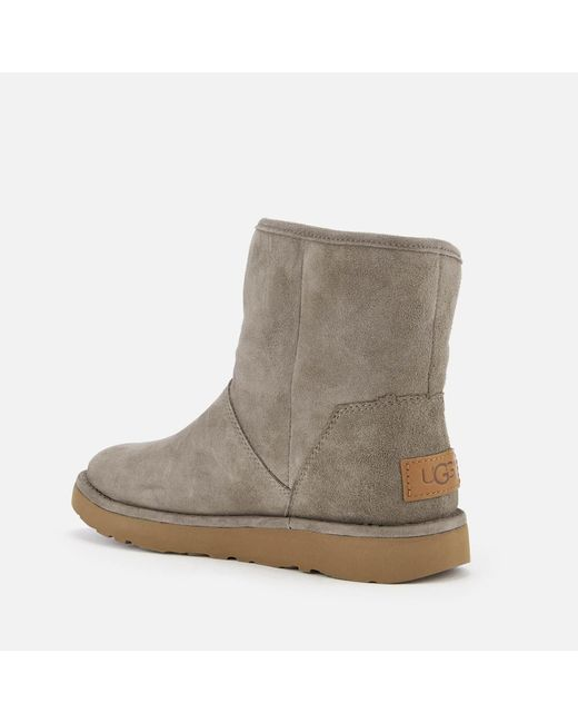 f73b73a341b UGG Kip Side Zip Suede Boots in Gray - Lyst