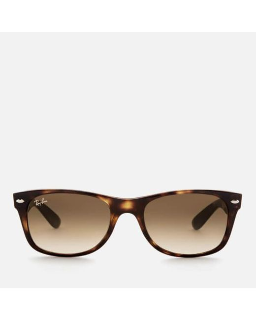 ee1ff2c923 Ray-Ban - Brown Rayban Men s New Wayfarer Sunglasses for Men - Lyst ...
