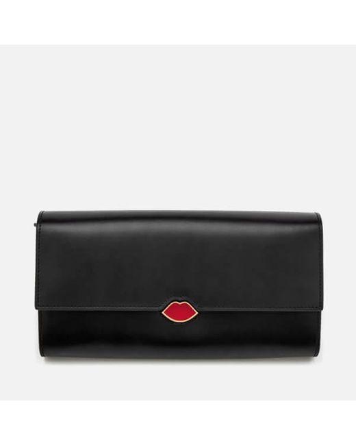 Womens Cardholder Credit Card Case Black (Black/Red) Lulu Guinness voUmKK9x