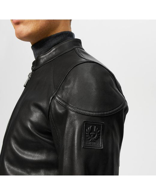 ad1062bb56c ... Belstaff - Black Leather Racer Jacket for Men - Lyst ...