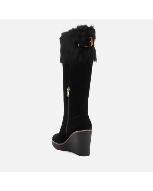 287578821f5c In Thigh Black Sheepskin Valberg Boots High Suede Ugg Cuff Women s 4xXwzX8