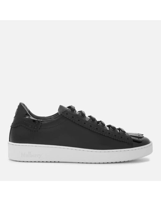 Mulberry - Black Women's Patent Low Top Trainers - Lyst