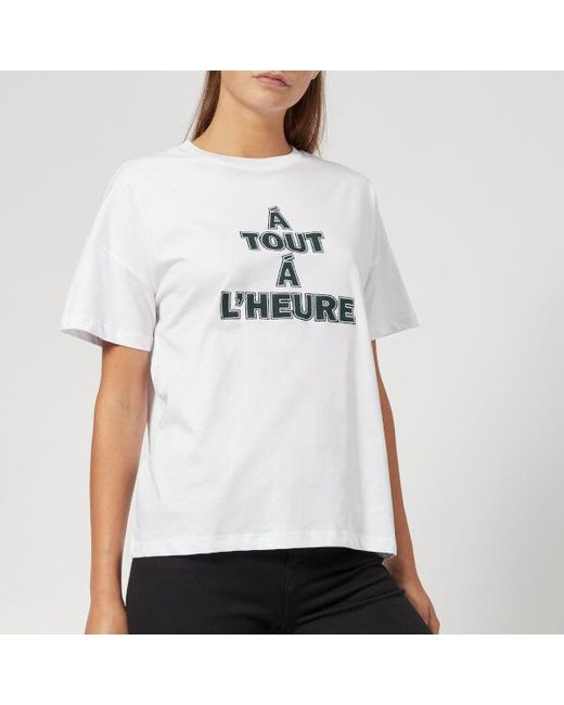 Gestuz - White Women's Marge Tshirt - Lyst