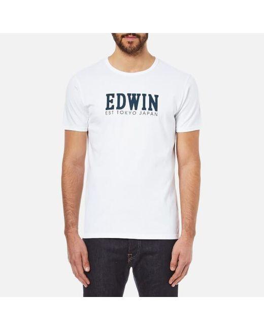 Edwin - White Logo Type 2 T-shirt for Men - Lyst
