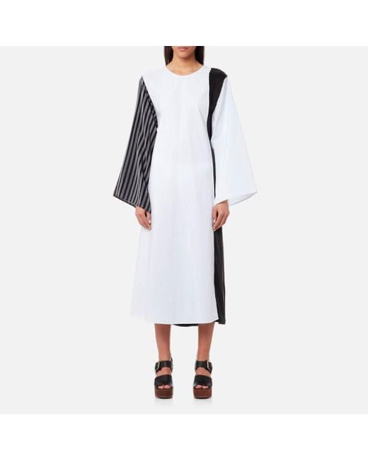 Womens Cotton Poplin Lab Coat Dress Maison Martin Margiela Discount Newest Clearance For Nice Cheap Sale Professional Buy Cheap Pay With Visa NP8E9