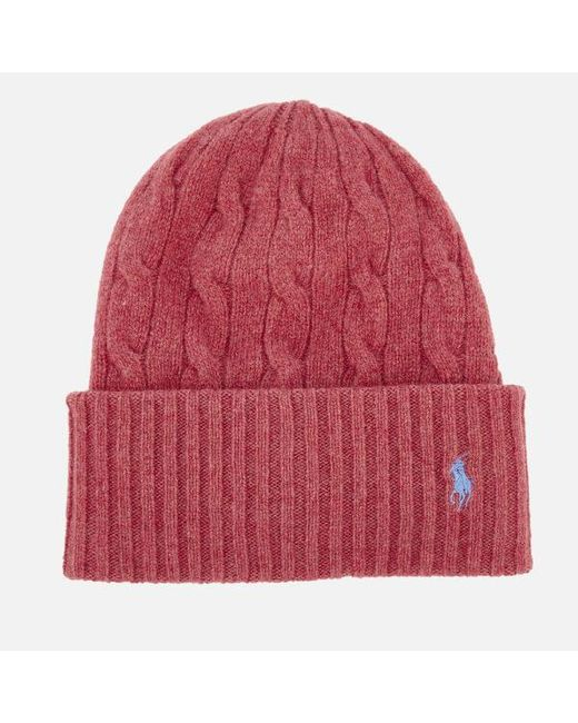 Lyst - Polo Ralph Lauren Hat Women in Red - Save 32.14285714285714% be36c414e08