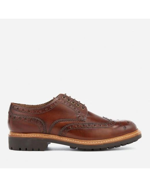 Grenson Men S Archie Hand Painted Leather Commando Sole