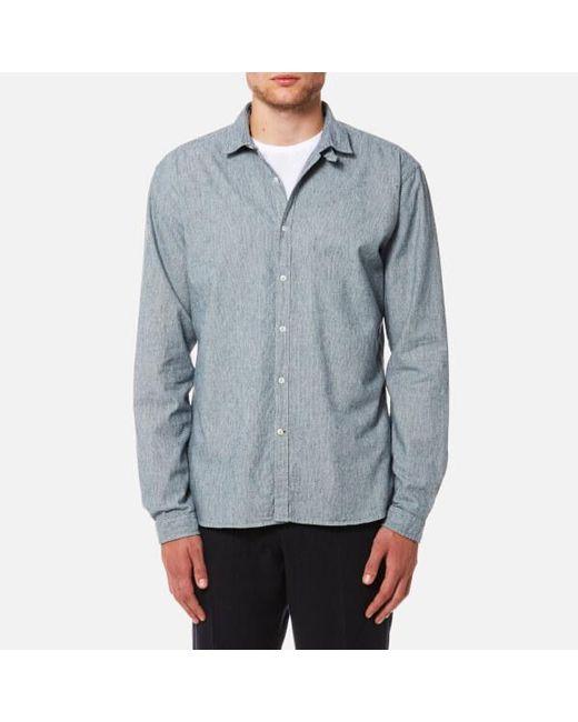 Oliver Spencer   Blue Men's Clerkenwell Tab Shirt for Men   Lyst