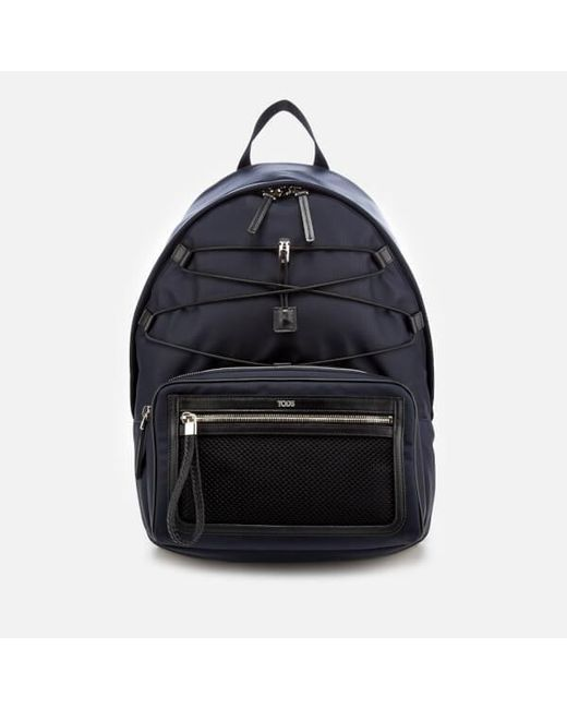 b68562dc311dee Tod's - Blue Men's Mix Fabric Backpack for Men - Lyst ...