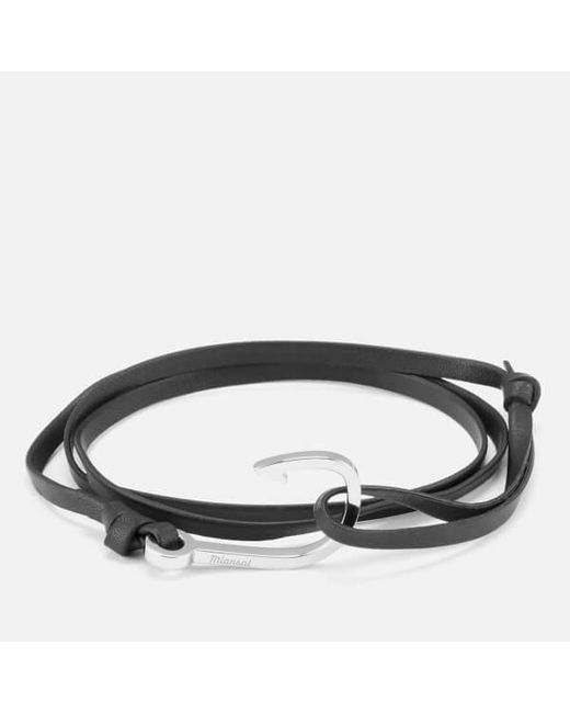 Miansai - Metallic Men's Leather Bracelet With Silver Hook for Men - Lyst