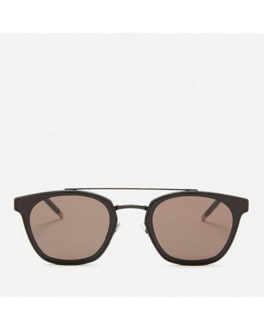 e525846f7ab Saint Laurent - Black Aviator Style Sunglasses for Men - Lyst ...