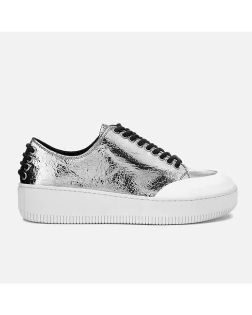 McQ Alexander McQueen SSENSE Exclusive White & Beige Manhattan Sneakers