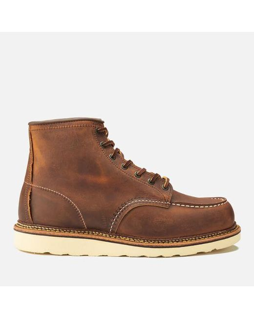 Red Wing - Brown Men's 6 Inch Moc Toe Double Welt Leather Lace Up Boots for Men - Lyst