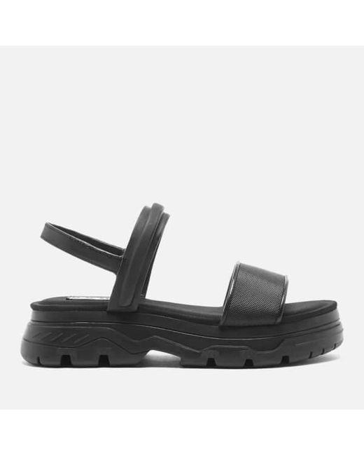 DKNY | Black Women's Addie Multi Strap Flat Lug Sandals | Lyst