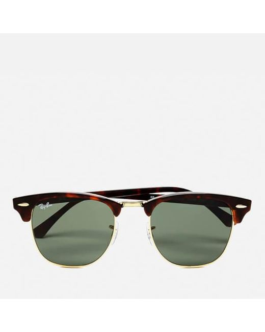 b385e7ade1746d Lyst - Ray-Ban Rayban Clubmaster Sunglasses 49mm in Brown - Save ...