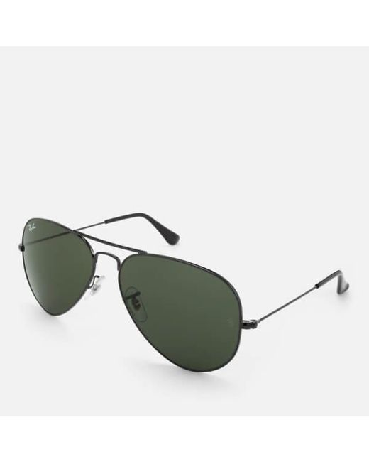 522f270941f ... Lyst Ray-Ban - Black Rayban Men s Aviator Metal Frame Sunglasses for  Men ...