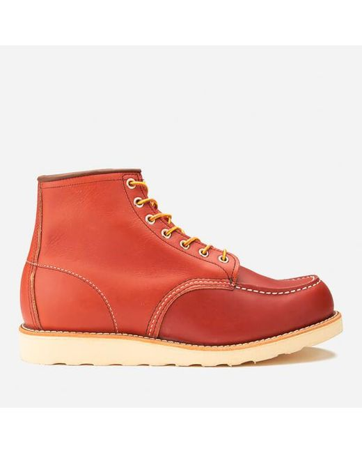 Red Wing - Red 6 Inch Moc Toe Leather Lace Up Boots for Men - Lyst