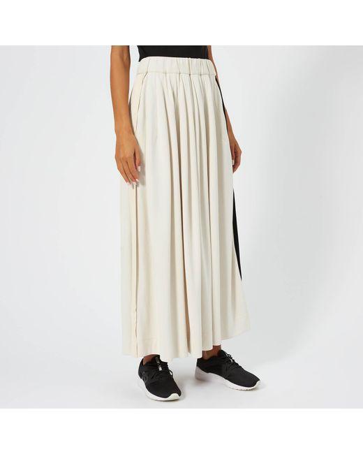 3bf360578fe34 Lyst - Y-3 3 Stripe Selvedge Matt Track Skirt in White - Save 50%