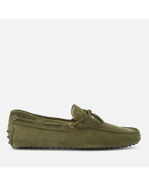 Tod's - Green Driving Shoes for Men - Lyst