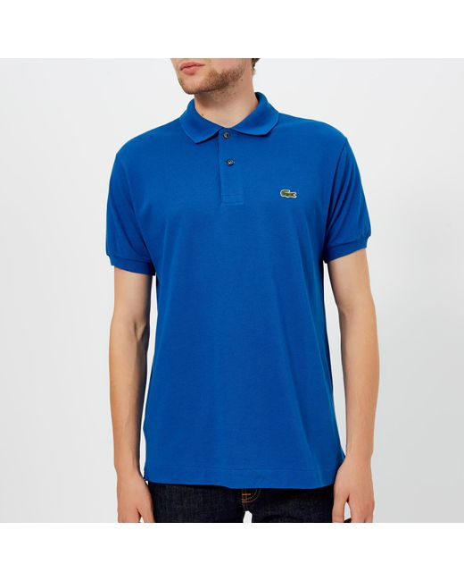 c7c861688262 Lacoste - Blue Classic Fit Polo Shirt for Men - Lyst ...