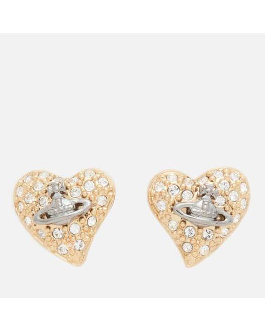 Vivienne Westwood | Metallic Women's Tiny Diamante Earrings | Lyst