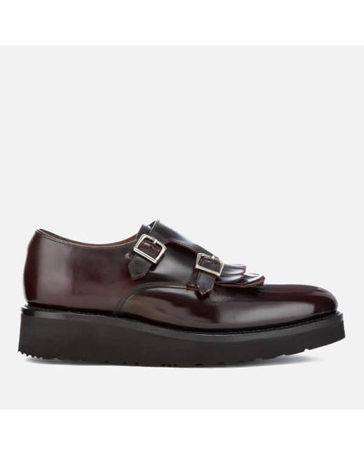 GRENSON   Multicolor Women's Audrey Leather Double Monk Shoes   Lyst