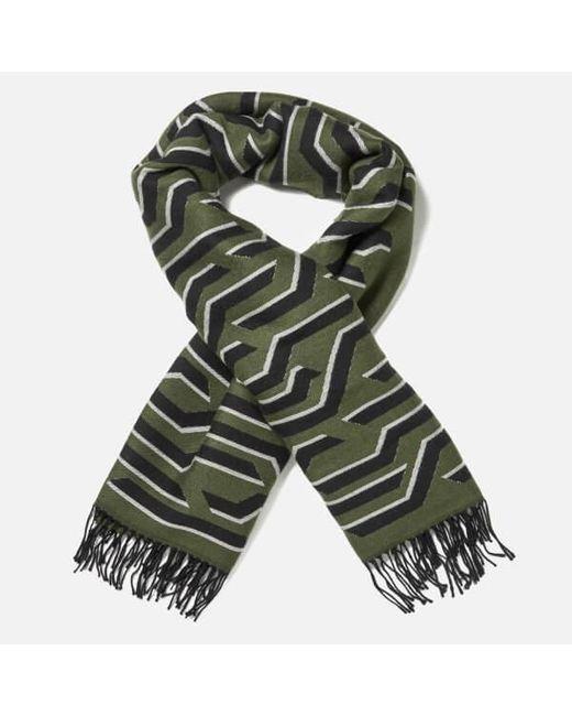 KENZO | Green Women's Geotiger Wool Scarf | Lyst