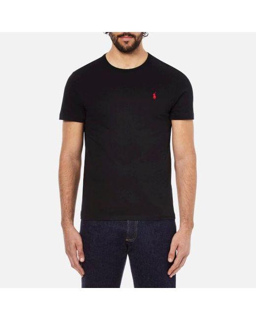 Polo Ralph Lauren - Black Men's Short Sleeved Crew Neck Tshirt for Men - Lyst