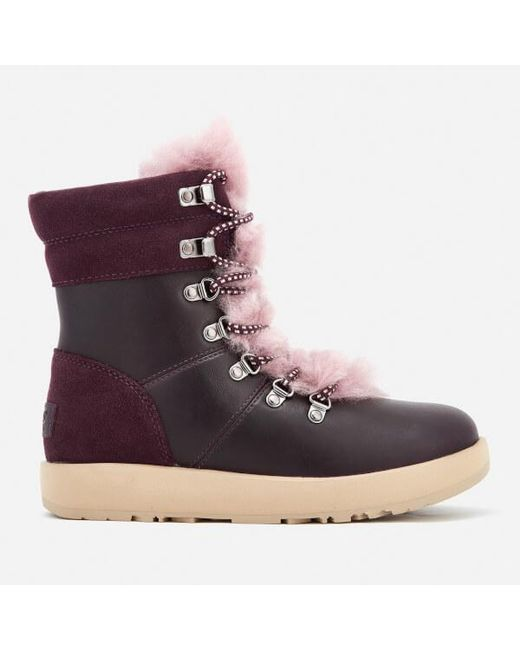lyst ugg womens viki waterproof leather lace up boots