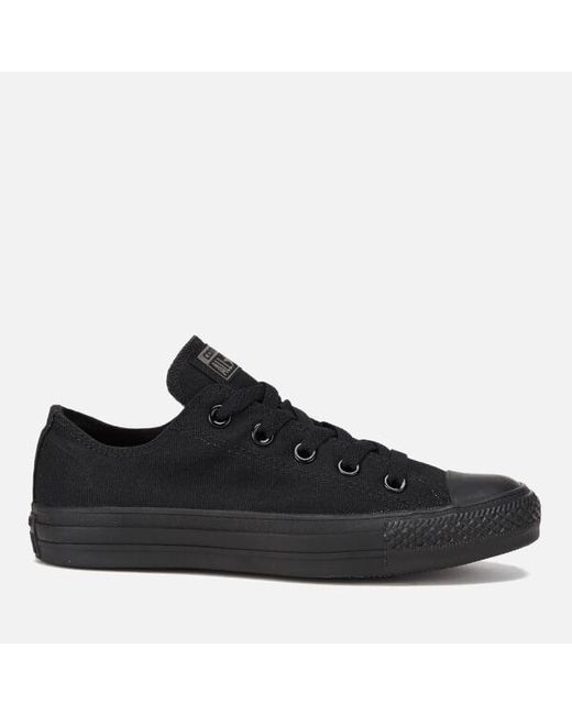ae4c4c2295682f Converse - Black Unisex Chuck Taylor All Star Ox Canvas Trainers for Men -  Lyst ...