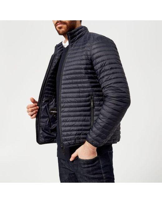 Emporio Armani - Blue Men's Padded Jacket for Men - Lyst