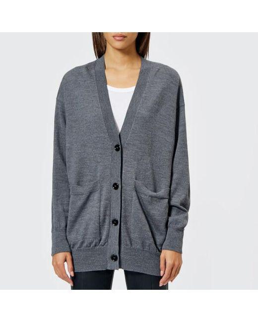 Lyst Mm6 By Maison Martin Margiela Womens Wool Cardigan With