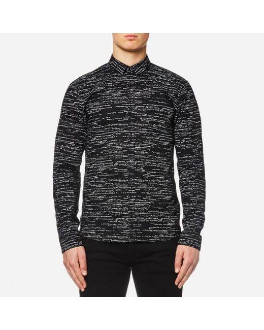 HUGO | Black Ero 3 Patterned Shirt for Men | Lyst