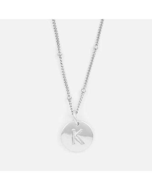 Missoma | Metallic Women's Silver 'k' Initial Necklace | Lyst