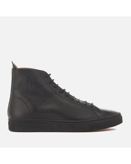 Vivienne Westwood - Black Men's Grain Leather Hitop Trainers for Men - Lyst