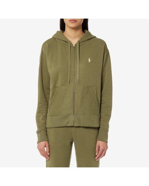 Polo Ralph Lauren - Green Women's Hooded Sweatshirt - Lyst