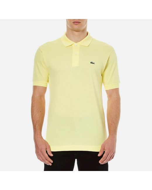 8f5f76de ... real lacoste yellow mens short sleeve pique polo shirt for men b9f13  6f9ed