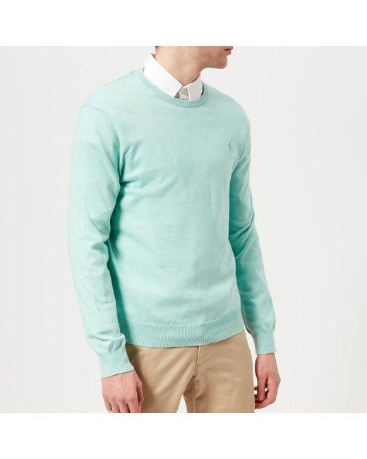 Polo Ralph Lauren - Green Men's Crew Neck Pima Knitted Jumper for Men - Lyst