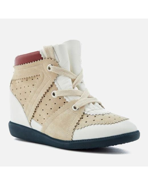 887b4d76fca ... Lyst Isabel Marant - White Women's Betty Wedged Hitop Trainers ...