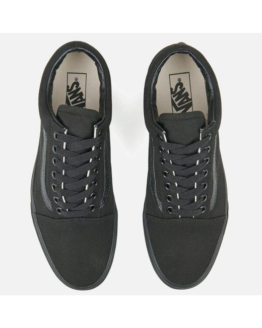 ... Vans - Black Unisex Old Skool Canvas Trainers for Men - Lyst ... 0a07967ce